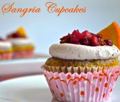 Sangria Cupcakes by Pale Yellow