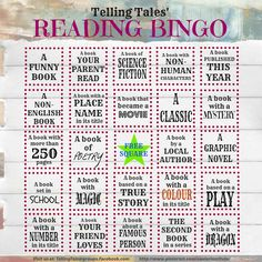 2014 Kids Reading Bingo