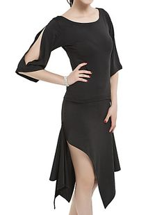 Ballroom Women's Polyester Latin Dance Outfit - USD $ 22.79