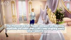Barbie confessions: the Princess and the Pauper bloopers are hilarious especially the Julian one. I can't help laughing every time I watch it.
