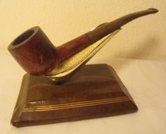 Vintage Bruyere Half Bent Prince Style Estate Briar Tobacco Smoking Pipe NICE