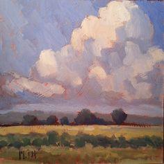 Heidi Malott Original Paintings: Summer Corn Contemporary Impressionism Fields & Cl...
