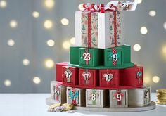How to Make an Advent Calendar Present Stack #Christmas #Advent
