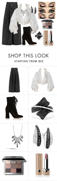 """Evening wear"" by legoalibri on Polyvore featuring Paper London, Claude Montana, Gianvito Rossi, Effy Jewelry, John Hardy, Bobbi Brown Cosmetics and Marc Jacobs"