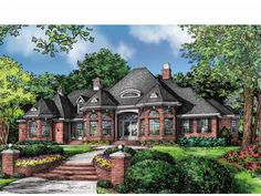 Home Plan HOMEPW75292 is a gorgeous 2812 sq ft, 1 story, 4 bedroom, 3 bathroom plan influenced by  European  style architecture.