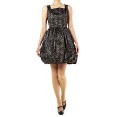Jacquard stripe taffeta dress