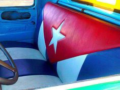 Now that's one hell of a car seat! #cuba