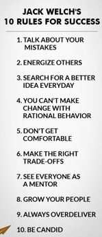 10 Rules for success: Jack Welch