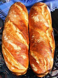 """Kenyérmagos"" hosszú kenyér Croatian Recipes, Hungarian Recipes, Challah, How To Make Bread, Bread Baking, Cake Cookies, Bread Recipes, Baked Goods, Kenya"