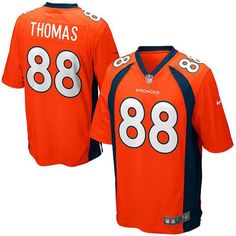 Represent your favorite player with this Youth Denver Broncos Demaryius Thomas Orange Nike Game Jersey. This product is a must have for young Broncos fan who wa Broncos Shirts, Broncos Fans, Nfl Fans, Peyton Manning Jersey, Lamar Miller, Orange Games, Denver Broncos Super Bowl, Demaryius Thomas, Mike Ditka