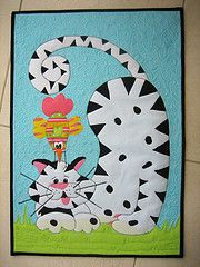 Cat & Bird Quilt - So cute!