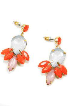 Bright orange jewel earrings http://rstyle.me/n/fi2cbnyg6