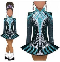Irish Dance Dresses, Dress Ideas, Merida Costume, Irish Step Dancing, Fashion Dresses, Women's Fashion, Dance Stuff, People Dress, Dress Styles