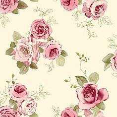 Vintage Nicky Rose @ B & Q  #vintage #rose #wallpaper  This on accent wall with light pink and mint green walls