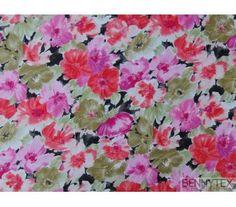 Tissu Coton imprimé , souple et agréable au toucher sera  idéal pour robes, jupes, hauts , blouses
