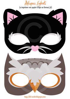 Lili♡Inside: Décoration Halloween 2013 x un kit et des masques à imprimer