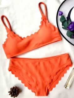 SHARE & Get it FREE | Scalloped Bralette Bikini Set - OrangeFor Fashion Lovers only:80,000+ Items • New Arrivals Daily Join Zaful: Get YOUR $50 NOW!