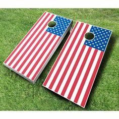 American Flag Tournament Cornhole Set