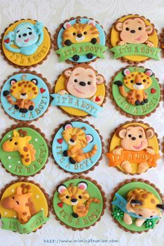 safari fondant cupcake toppers - Google Search