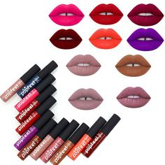12 Colors Tint liquid Lipstick Matte Lip Gloss Red Velvet Waterproof Long Lasting Lipgloss Sexy Lipstick Tattoo Makeup Brand  Price: 1.11 USD