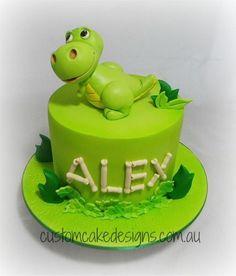 Cartoon Dinosaur Cake by Custom Cake Designs