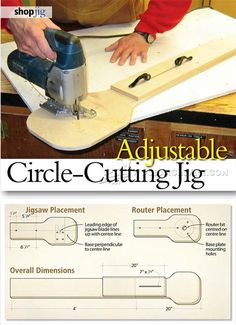 Jig Saw Circle Cutting Jig -  Jig Saw Tips, Jigs and Fixtures | WoodArchivist.com
