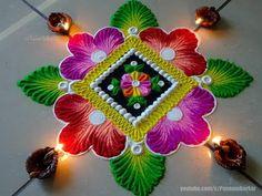 Very easy and beautiful diwali rangoli - foram - Aktuelle Bilder Happy Diwali Rangoli, Easy Rangoli Designs Diwali, Diwali Special Rangoli Design, Rangoli Simple, Indian Rangoli Designs, Rangoli Designs Latest, Rangoli Designs Flower, Rangoli Border Designs, Small Rangoli Design