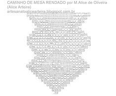 CAMINHO DE MESA RENDADO COM GRÁFICO