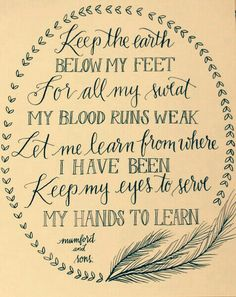 Below My Feet ~ Mumford and Sons <3