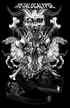 Death Metal Illustrations by Mark Riddick | Abduzeedo | Graphic Design Inspiration and Photoshop Tutorials