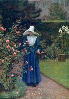 The Roses' Day Edmund Blair Leighton - Date unknown