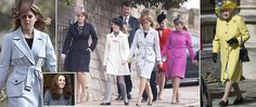Here come the girls (except Kate): Beatrice, Eugenie and Sophie join the Queen for Easter