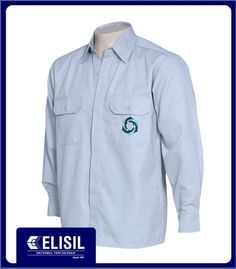 Camisa Profissional Social M/L com dois bolsos com tampa e porta caneta