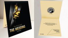 ideas divertidas para invitaciones de bodas, seleccionado por tu boda site Invitación de boda como una entrega de premios oscar