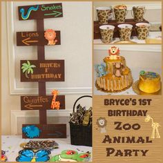 Safari Boy Girl Animal Jungle Zoo Birthday Party Planning Ideas