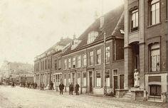 Haarlem, Kruisweg in 1880 nabij het station. Het verhoogde treinspoor is nog niet uitgevoerd