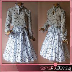 Vintage 1970s Polka Dot White Frilled Pleated Pelmet Rockabilly BOHO Dress#vintagedress  http://www.ebay.co.uk/itm/Vintage-1970s-Polka-Dot-White-Frilled-Pleated-Pelmet-Rockabilly-BOHO-Dress-UK14-/371662978781