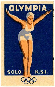 Match Box Label, Olympics