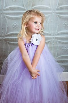 Lavender Flower Girl Tutu Dress by TheLittlePeaBoutique on Etsy, $95.00