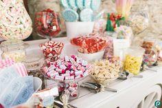 Wedding ideas DIY sweets trolly | Documentary wedding photography in Dorset