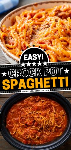 A Sunday dinner idea made right in your slow cooker! Full of flavor from spicy Italian sausage in a creamy sauce, this Crock Pot Spaghetti with cream cheese is the comfort food the entire family is sure to devour. Save this quick and easy pasta recipe and try it! Best Crockpot Recipes, Easy Pasta Recipes, Spaghetti Recipes, Grilling Recipes, Easy Dinner Recipes, Slow Cooker Recipes, Easy Meals, Yummy Recipes, Italian Sausage Spaghetti