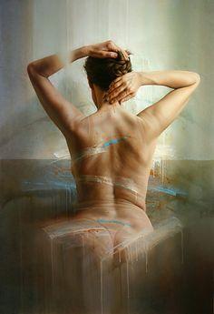 István Sándorfi - Le Dos de Anne, 2005, oil on canvas