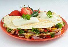 Quesadillas au poulet grillé et au pesto