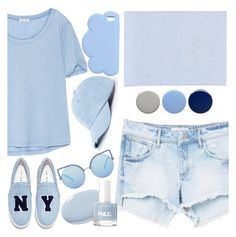 """""""Because I love blue."""" by valemx ❤ liked on Polyvore featuring Splendid, MANGO, Matthew Williamson, Joshua's, Fine & Candy, STELLA McCARTNEY, Sole Society and Burberry"""