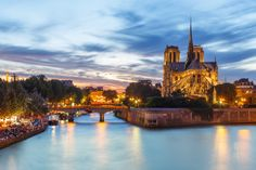 Notre Dame de Paris and Seine River at Dusk by Loïc Lagarde on 500px #france #europe #travel #photography #architecture
