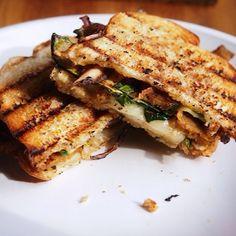 ... panini with shredded collard greens, grilled zucchini and gruyere