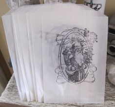 french market old saint nick santa claus xmas gift by OkioBDesigns, $5.00