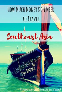Here is the ULTIMATE breakdown of how much money you're going to need to travel Southeast Asia!