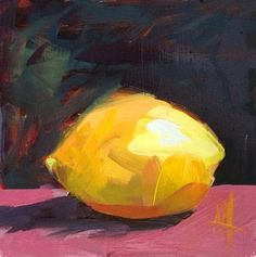 Lemon no. 37 Original Oil Painting  by Angela Moulton pre-order