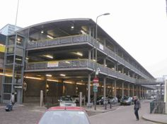 Multi storey bike parking will appear at Union Station such as this one in The Hague, Netherlands